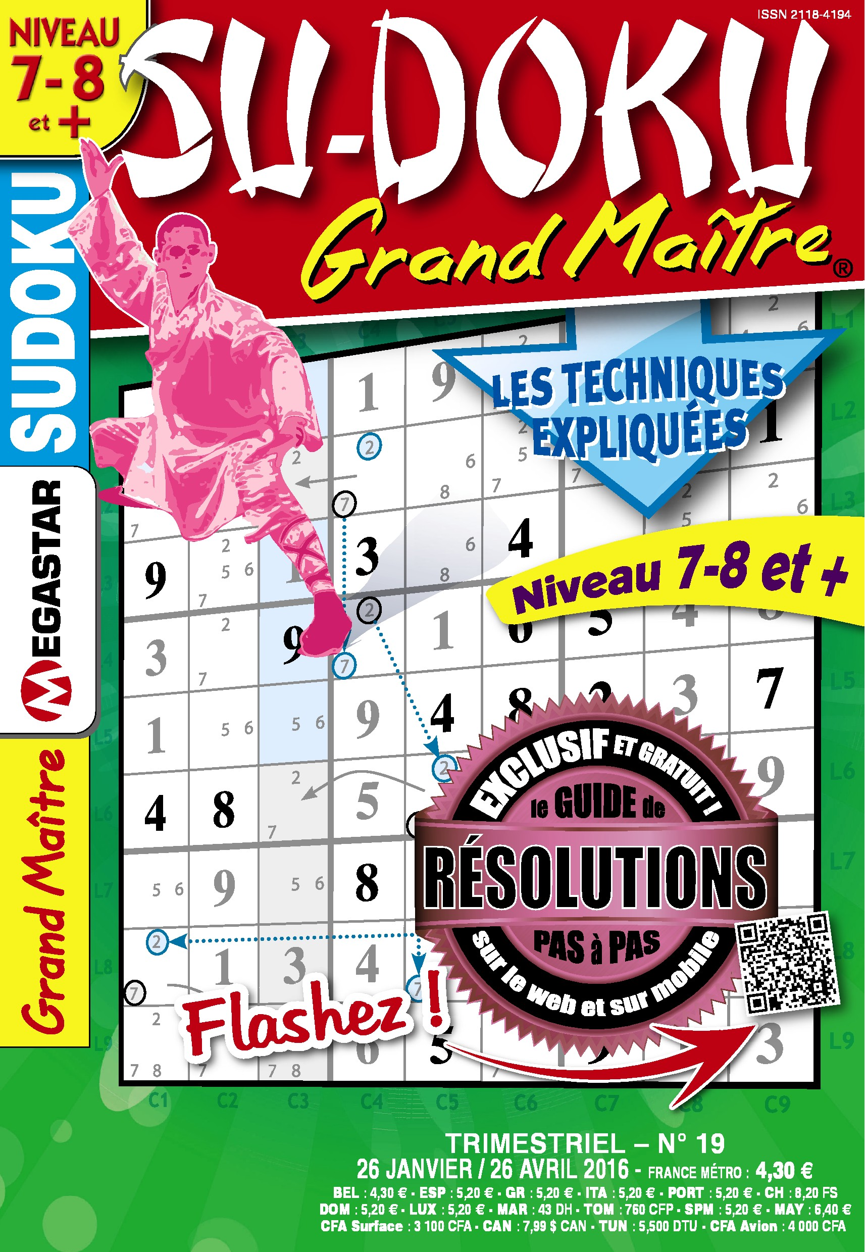 Solutions Sudoku Grand Maître n°19